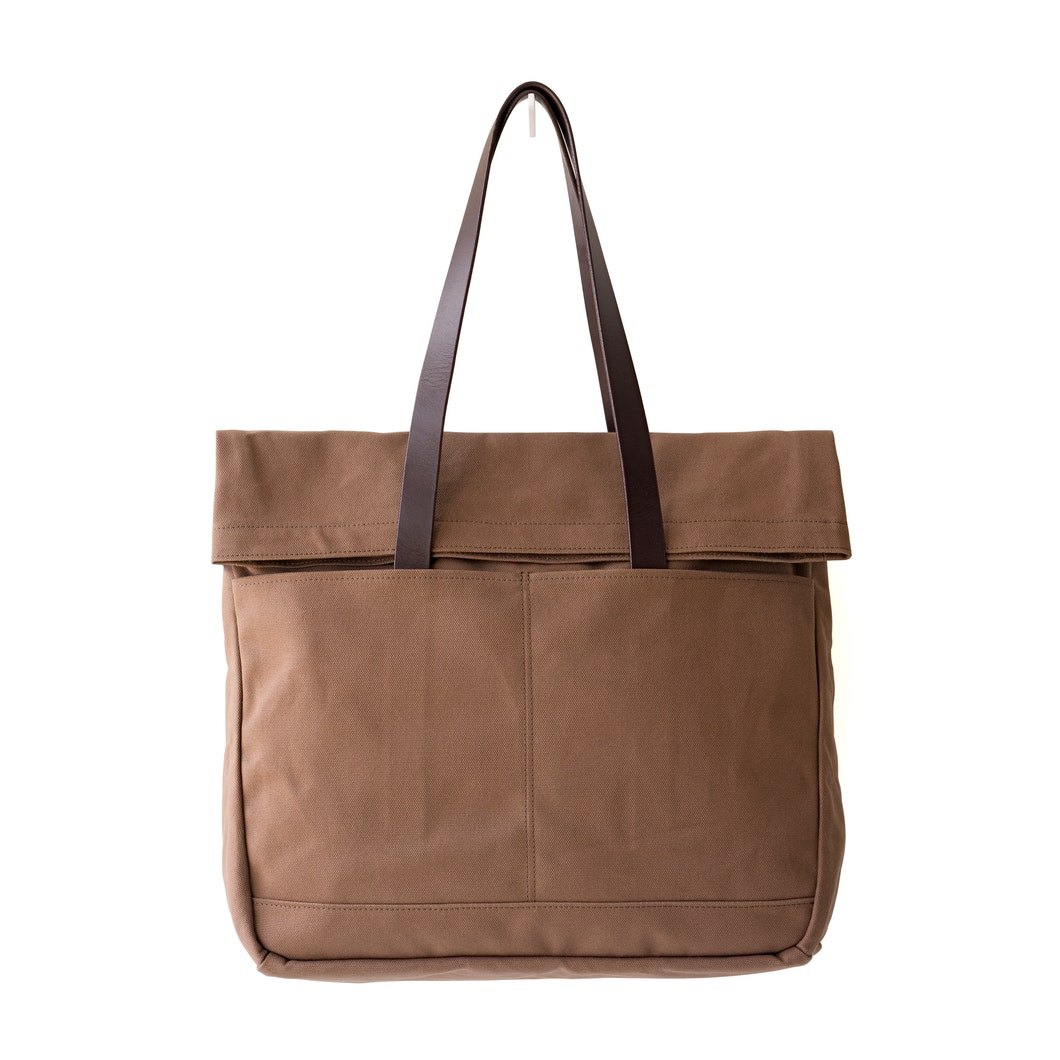 92e774531c43 Canvas and Leather Fold Weekender Revised - Tobacco - Tobacco Canvas ...