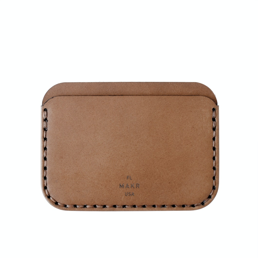 Round Wallet - Tobacco - Tobacco Horween® Leather