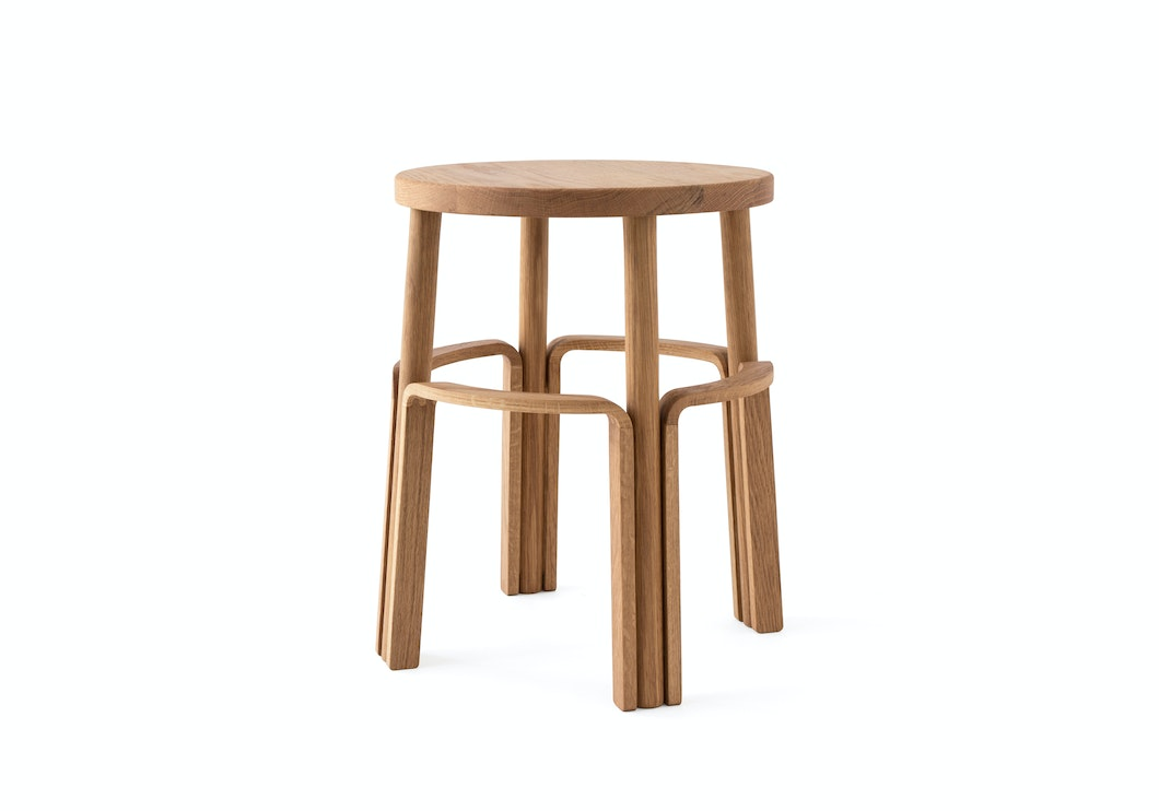 "MAKR - Wood Factory Stool 18"" - Made in USA"