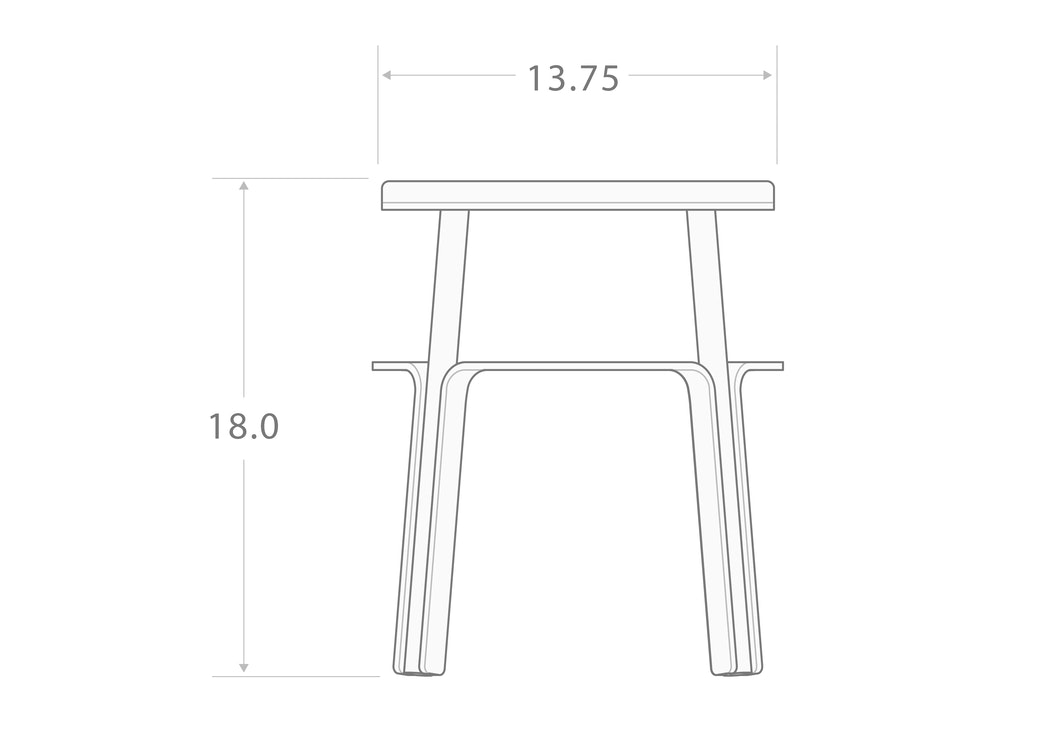 "MAKR - Factory Stool 18"" - Made in USA"