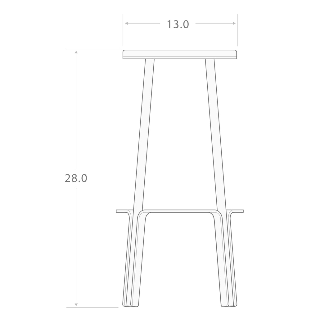 "MAKR - Factory Stool 28"" - Made in USA"