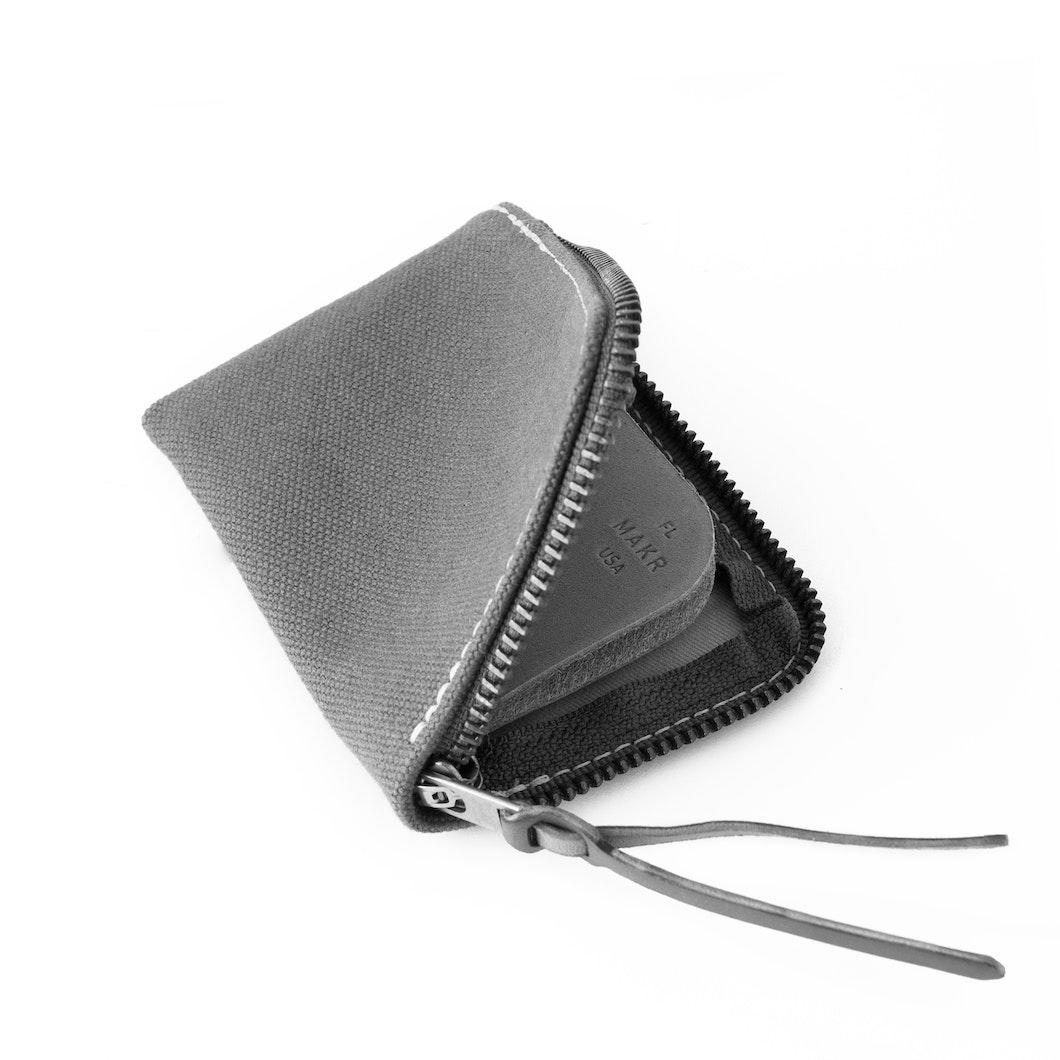 MAKR - Canvas Zip Slim Wallet - Made in USA
