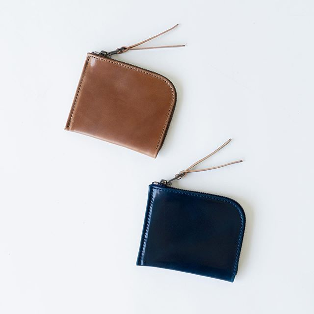 7248b881e New build preview of the of our Cordovan Zip Luxe wallet in Whiskey and  Intense Blue